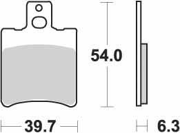 KYOTO - PLACUTE FRANA S1065 = SBS114-SBS667 (SEMIMETALICE)